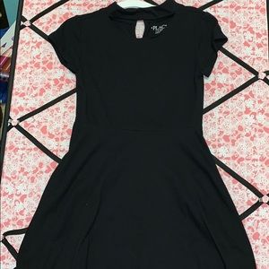 Black choker skater dress